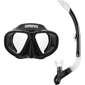 arena Premium Snorkelsæt, black-clear-black